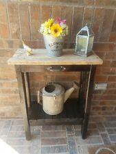 RUSTIC VINTAGE FARMHOUSE WOOD ENTRY TABLE CONSOLE