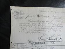 Bremen Kirchlengern, alte Rechnung 1889 deko