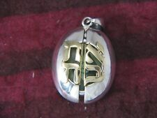 Ladybug Ahava Locket Sterling Silver and 14K Gold by Michael Bromberg