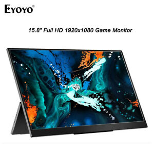 15.8Inch 1920x1080 Monitor USB-C Full HD Game Monitor For PC PS4 Xbox Cellphone