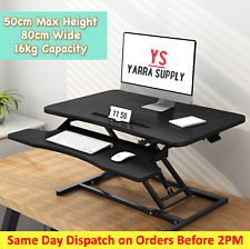Standup Desk Riser For Home Office Table Sit Stand Height Adjustable 80cm