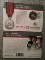 AUS ACTIVE SERVICE MEDAL 1945-75 COIN ON CARD 2017 20C LEGENDS OF THE ANZACS
