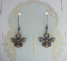 Minimalist Tiny Honey Bee Earrings Vintage Charms Girl Birthday Gift Card ASOS