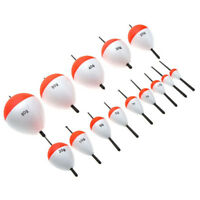 14Pcs Fishing Floats Fishing Accessory with White Red Sticks V6Z6
