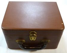 "Vintage Train Travel Luggage  "" Dovetailed Wood Construction "" Bakelite Handle"