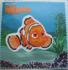 HANDCRAFTED CARD HAPPY BIRTHDAY FINDING NEMO CROSS STITCH DORY FISH CLOWN