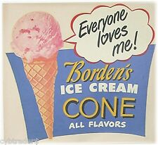 Borden's Ice Cream Cone Advertising  Refrigerator / Tool Box  Magnet