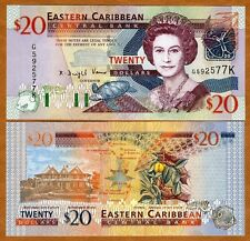 Eastern East Caribbean $20 (2003) St. Kitts, P-44k, UNC