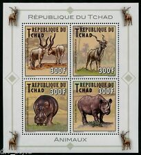 African Animals minisheet 4 stamps Republic of Chad 2013 mnh