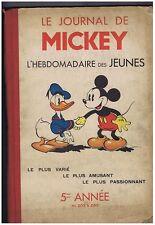 Le Journal de Mickey. 5e année n°209 à 260. 1938/1939