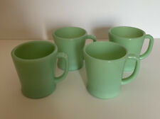 Vintage Jadeite Coffee Mugs Set Of 4 Fire King