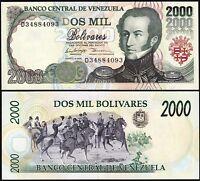 Venezuela 2000 Bolivares 1998, UNC, P-77c
