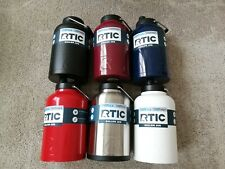 New Rtic One Gallon Jug - Stainless, Navy_Matte, White_Matte