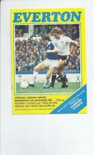 Everton League Cup Home Teams C-E Football Programmes