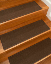 """""""DIVINE"""" Ready-Made Sisal Stair Treads Carpet (9""""X 29"""") by NaturalAreaRugs 13 Pc"""