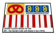 Replica Pre-Cut Sticker - Lego® Legoland Set 361 - Tea Garden Cafe & Baker's Van