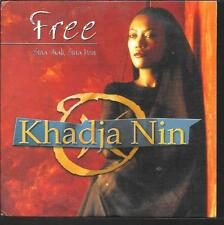 CD SINGLE 2 TITRES--KHADJA NON--FREE--1996