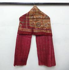 Silk Kantha Scarf Neck Wrap Stole Dupatta Hand Quilted Bandanas headband Kj51