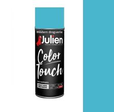 AEROSOL BOMBE PEINTURE BLEU CARAIBES BRILLANT 400ML JULIEN COLOR TOUCH