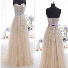 Women Wedding Bridesmaid Long Evening Party Ball Prom Gown Cocktail Dress XL