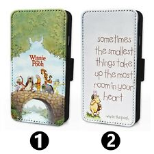 Winnie The Pooh - Flip Phone Case Wallet Cover - Fits Iphone & Samsung