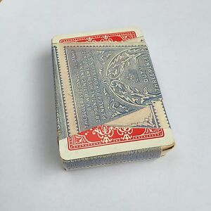 Vintage Wide Playing Cards Art Nouveau Red Flower Design Tax Duty SEALED