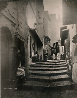 Algérie, Alger, Rue Kleber vintage print Photomécanique  24x30  Circa 1885