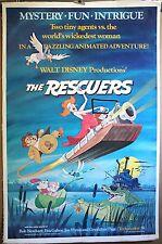 The Rescuers '77 Original Disney linen mounted 1sheet poster