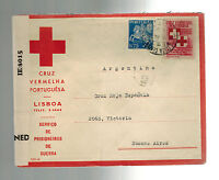1944 Lisbon Portugal censored cover to Buenos Aires Argentina Red cross