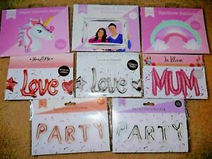 Foil Balloons Love Letter Mum Party Unicorn Photo Booth Birthday Wedding