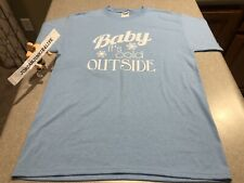 Mens Baby It's Cold Outside T-Shirt Christmas Xmas Music Holiday Shirt Size M