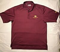 Under Armour Heat Gear Loose Fit Maroon Casual Golf Polo Shirt Mens S Wildcats