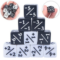 10x Dices Counters 5 Positive +1/+1 & 5 Negative -1/-1 For Gathering Table _T DS
