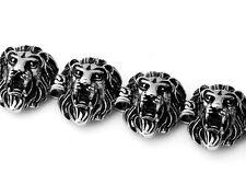 【from USA】 Rocker Biker Lion King Chrome Style 8.5 inch Stainless Steel Bracelet