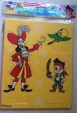 New Disney Jake & Neverland Pirates Bathtime Finger Puppets - Jake Skully Hook