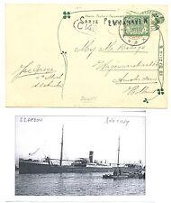 NED INDIE 1911-10-24  AK PADANG   =S.S.AMBON = LS - EMMAHAVEN- FINE