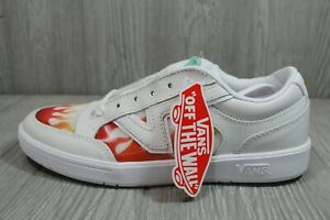 67 Vans Lowland CC (Flame) White Red Yellow Lenticular Men's Size 7.5 Comfy Cush