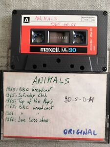 Animals Live BBC Top of the Pops 1965-1967 Cassette Tape
