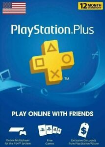 Sony PlayStation Plus 12-Month 1-year Membership - DIGITAL DOWNLOAD CODE PS5 PS4