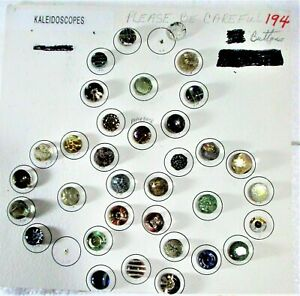 30 ANTIQUE KALEIDOSCOPE GLASS BUTTONS