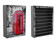 Stoffschrank Schuhschrank Schuhregal 9 Fächer rote Telefonzelle London NonWaven