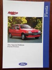 FORD FIESTA FRESCO Special Edition orig 1991-92 UK Mkt sales brochure leaflet