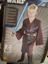Child Anakin Skywalker Deluxe Costume M 8-10 New Star Wars Tunic Pants Belt