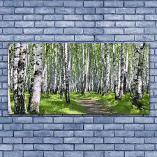 Glasbilder Wandbild Druck auf Glas 140x70 Wald Fußpfad Natur