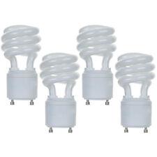 4 Pack 13W CFL Mini Spiral GU24 Base 4100K Cool White 60W Fluorescent Light Bulb