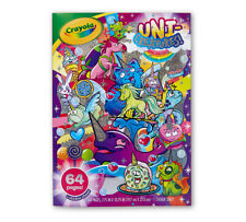 Lot of 3 New, Unused Crayola Coloring Books (unicorns, social media, crayons)