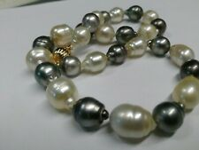 18 Inch Multi Color Australian And Tahitian South Sea Pearl Necklace