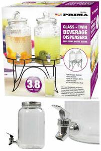 3L / 5 Litre Glass Beverage Drinks Dispenser Jug Jar Juice Cocktail