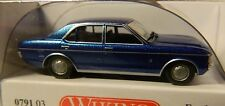 WIKING HO scale ~ FORD GRANADA ~ FULLY ASSEMBLED in BLUE METALLIC!