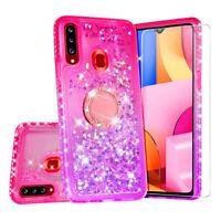 Case for Samsung Galaxy A20S Case Hybrid Liquid Glitter Diamond Phone Cover